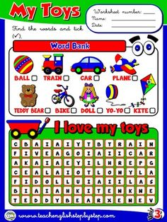 My Toys - Worksheet 1