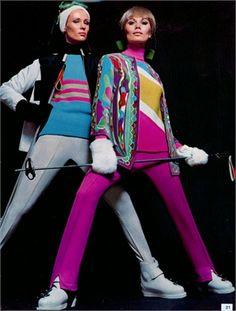 Emilio Pucci : La moda per le discese  Photo by William Klein 1967  Vogue Italia, gennaio 1967