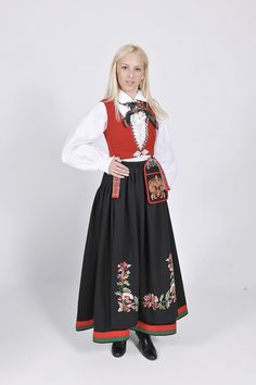 Vest-Agder Folk Costume, Costumes, Traditional Outfits, Mittens, Norway, High Waisted Skirt, Vest, Culture, Womens Fashion