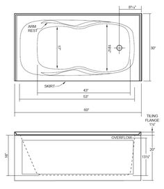 The Robson I Is An Alcove Bathtub, Designed With An Integral Front Apron  And Double Tiling Flange. Acri Tec Alcove Bathtubs Are Constructed Of A  High ...