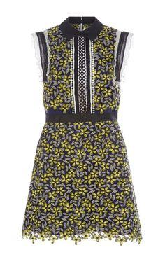 Eleina Sleeveless Daisy Dress by SELF PORTRAIT Now Available on Moda Operandi