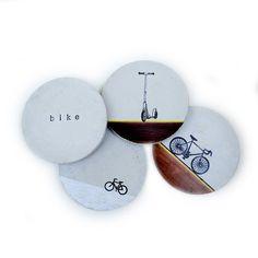 Concrete Bike Coasters