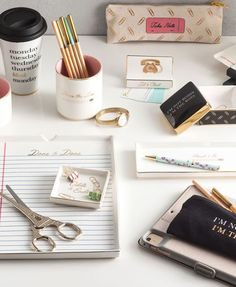 Turn desk drawers into boho FUN with trinket trays - Rosanna Glam Office collection