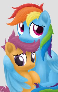 Photograph - Rainbow Dash and Scootaloo by SymbianL.deviantart.com on @deviantART