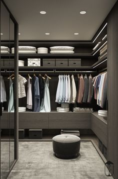 37 Contemporary Closet Design Ideas For More Sophisticated Home Wardrobe Door Designs, Wardrobe Design Bedroom, Wardrobe Doors, Wardrobe Closet, Closet Designs, Closet Bedroom, Walk In Closet Design, Dressing Room Design, Diy Bedroom Decor