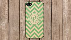 Personalized Monogram Chevron Vintage Green case for iPhone 4/4s/5/5s/5c Samsung Galaxy S3/S4/S5/Note 2/Note 3 by TopCraftCase, $6.99