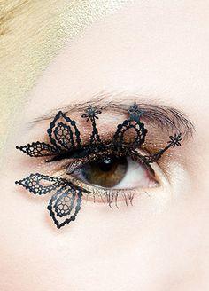 Lace eyelashes #halloween #fairy #costume