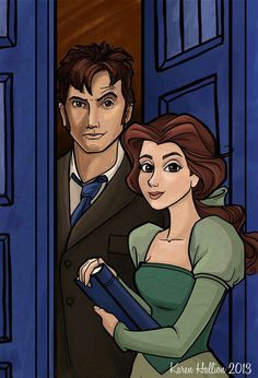 Belle would totally be the best companion ever! This should happen.