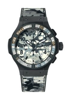 Commando Bang Snow Carat 44mm Chronograph watch from Hublot