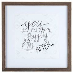 Black & White My Happily Ever After Framed Art