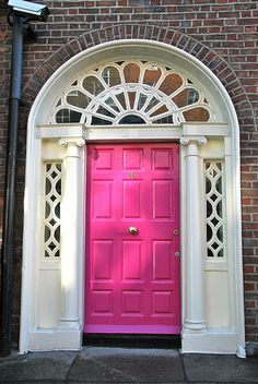 dublin door - pink | Flickr - Photo Sharing!