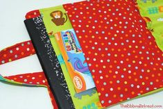 Coloring Book and Crayon Holder Tutorial - perfect for the little artist! {The Ribbon Retreat Blog}