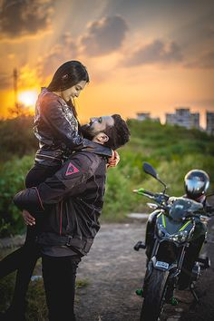 "Aniket Kanitkar ""Vineet & Poorva"" Love Story Shot - Bride and Groom in a Nice Outfits. Bike Photoshoot, Couple Photoshoot Poses, Pre Wedding Photoshoot, Couple Posing, Wedding Shoot, Indian Wedding Couple Photography, Wedding Couple Poses Photography, Cute Couple Selfies, Pre Wedding Poses"