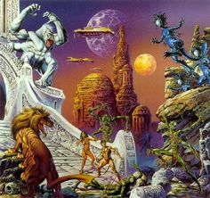 John Carter battles the creatures of Barsoom (Mars) to protect Dejah Thoris.