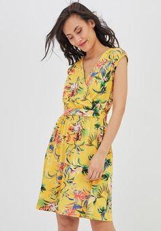 6b5d194c2b133 Robe imprimée Femme - Imprimé jaune - Robes - Femme - Promod