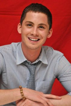 Logan Lerman. Oh. My. God.