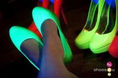Neon, blacklight heels