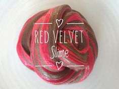 Red Velvet Slime Raspberry and Chocolate Valentine's Day