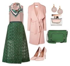 """green"" by serafinna on Polyvore featuring Valentino, Sacai, DKNY, Topshop, Swarovski, L.K.Bennett, Emilio Pucci and Dolce&Gabbana"