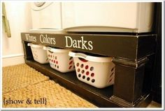 Washer and Dryer Shelf with Organized Laundry - Top 58 Most Creative Home-Organizing Ideas and DIY Projects