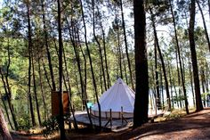 It's a Glamping time! Come and try our beautiful Bell-tent. With the stunning view to the river Lima. Outdoor Balcony, Outdoor Decor, Portugal, Escape, Top Tours, Bell Tent, Glass Facades, Camping Glamping, Closer To Nature