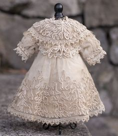 Antique French Tulle Lace dress for Jumeau Bru Steiner bebe doll... And fairy tales...