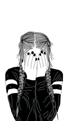 Sometimes you mess something and want to go back and fix it but you can't. Pop Art Wallpaper, Drawing Wallpaper, Cute Wallpaper Backgrounds, Wallpaper Iphone Cute, Cute Wallpapers, Tumblr Girl Drawing, Tumblr Sketches, Tumblr Drawings, Yuumei Art