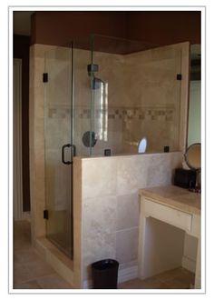 Opaque Glass Purist Steam Pivot Shower Door:Jason the Home Designer