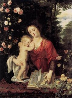 Title:Madonna and Child    Date: c.1624-1625    Artist: Peter Paul Rubens    Oil on canvas    Location: Gemaldegalerie, Berlin, Germany