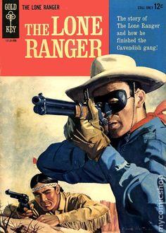 "Gold Key ""The Lone Ranger"" Comic September 1964 ~ Cover Art by Hank Hartman Vintage Comic Books, Vintage Tv, Vintage Comics, Arte Dc Comics, Old Comics, Western Comics, Western Art, The Lone Ranger, Tv Westerns"
