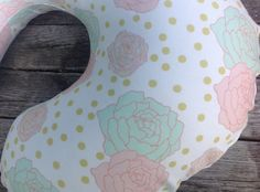 Organic Boppy Cover,Slip Cover, Mint Coral Peonies Girl All Natural by EcoEarthKids on Etsy https://www.etsy.com/listing/243506439/organic-boppy-coverslip-cover-mint-coral