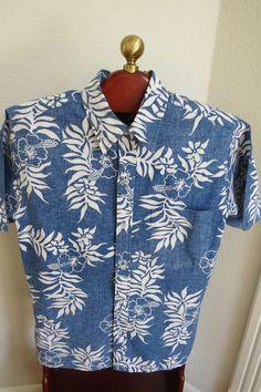 Vintage Mens Reverse Print Hawaiian Aloha Shirt by shabbyshopgirls, $32.00