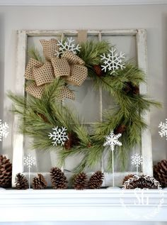 FARMHOUSE CHRISTMAS MANTEL from Yvonne at StoneGable blog