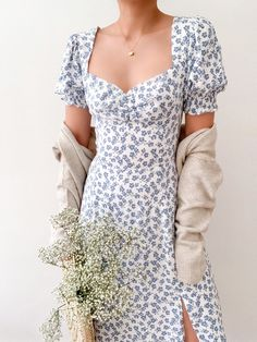 Pretty Outfits, Pretty Dresses, Cute Outfits, Mode Shoes, Casual Dresses, Summer Dresses, Floral Dress Outfits, Day Dresses, Frack