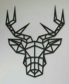 Stag Animal, Animal Heads, Laser Cut Wood, Laser Cutting, Gravure Laser, Laser Cutter Projects, Stag Head, Creation Deco, Ideias Diy