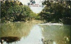 Calhoun Georgia GA 1908 Oostanula River Fork Ferry Antique Vintage Postcard