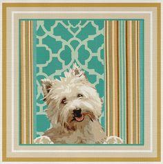 Needlepoint Canvas Westie - Vicki Lane | eBay