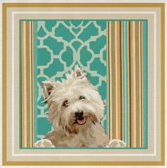 Needlepoint Canvas Westie - Vicki Lane   eBay