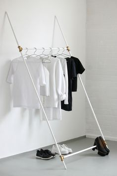 Clothing Rack made from plumbing tubes