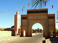 Marokko , Rissani, das Haupttor , 7-68