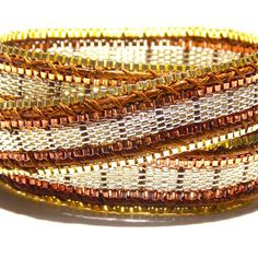 Elegant yet modern and trendy wrap bracelet. Gold, Silver and Copper!