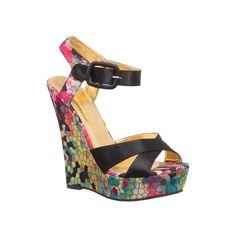 images of sandals | LABEL Nancy-1 Wedge Rainbow black