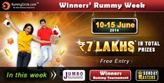 Winner's Rummy tournament at RummyCircle.com.
