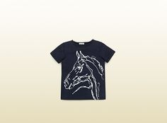 kid's horse print cotton t-shirt
