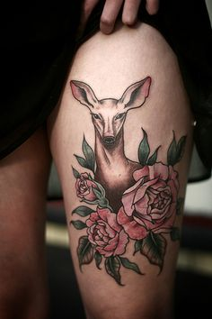 doe tattoo #tattoos #deer #doe #portland oregon #female tattoo artist