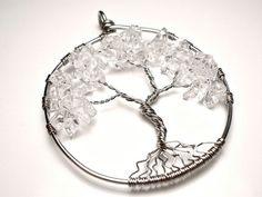 Clear Quartz Tree of Life Pendant by OddsAndEndsByKaley on Etsy, $20.00
