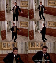 """Friends - Chandler: """"And the world will never know."""""""