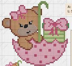 Image result for moldes punto cruz gratis para bebes cenefa toallas