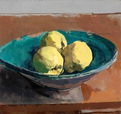 Robert Dukes Bowl of Quinces still life Painting Still Life, Paintings I Love, Still Life Artists, Fruit Painting, Art Graphique, Painting Inspiration, Flower Art, Painting & Drawing, Illustration Art