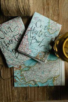 Diy travel journal · our adventure book handmade journal coptic stitch map by akeidah handmade books, handmade diary, Our Adventure Book, Adventure Map, Adventure Gifts, Adventure Is Out There, Adventure Awaits, Handmade Books, Handmade Journals, Handmade Diary, Handmade Rugs
